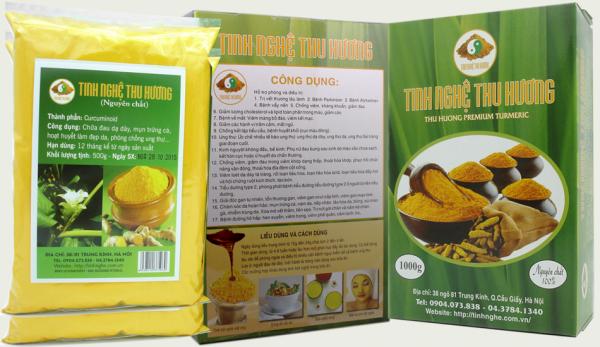 Tinh bột nghệ vàng nguyên chất Thu Hương 1000g giá 800.000đ